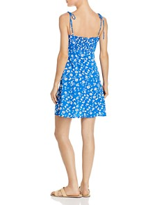 AQUA - Tie-Strap Floral Dress - 100% Exclusive